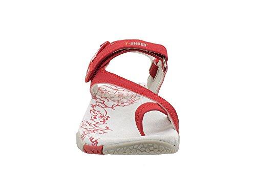 T-Shoes - Coimbra TS085 - Sandales Femme Rouge