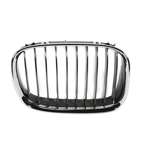 CarPartsDepot, Front Chrome Frame Surrounding Grille Black Vertical Insert Right (Passenger Side), 400-121096-02 BM1200118 51138159316 by