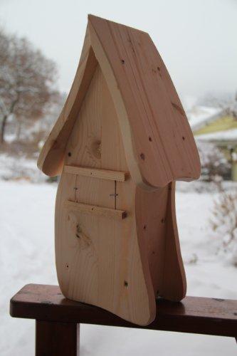 Dekorativer Nistkasten(NB1)-mit Vogelfutterhaus zum selbst bauen-Bausatz-Vogelhaus-Vogelhäuschen-Vogelhaus Garten Deko - 3