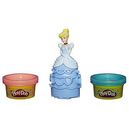 Play Doh Stempelset Cinderella - Stempelfigur mit 2 kleinen Glitzerknetdosen (Play-doh Set Doll)