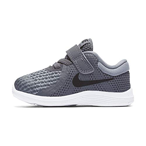 Nike Unisex-Kinder Revolution 4 (TDV) Laufschuhe, Mehrfarbig (Dark Black-Cool Grey-White 005), 23.5 EU