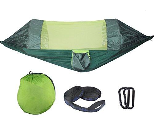 Ray-Velocity Camping Hängematte mit Moskitonetz | Licht Atmungsaktiv 1-3 Personen Outdoor Hängematte | Tragfähigkeit bis 200kg für Trekking Reise Strand Garten
