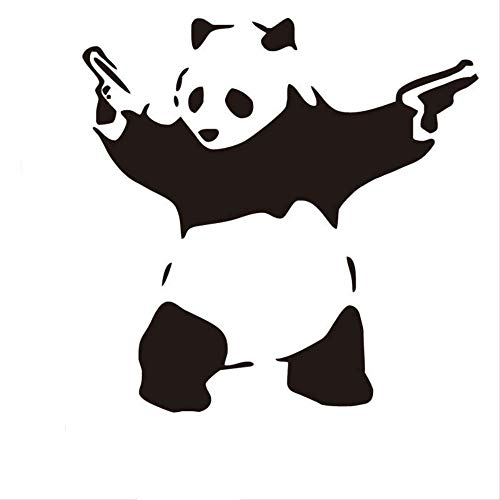 New Double Gun Panda Home Decorative Wall Sticker Wholesale Environmental Protection Can Be Removed 42 * 42Cm Double Wall Acryl