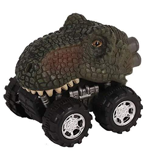 Bongles 1pcs Ursprüngliche Farbe Dinosaurier Autos Pull Back Dinosaurier Vehicle Set Mini Zurück Tier-Auto-Spielzeug Für Kleinkinder Ziehen Jungen Mädchen Tier Fahrzeuge Für Kinder Party Favors