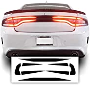 Bogar Tech Designs Tail Light Race Track Bat Vinyl Overlay Decal Cover Compatible with Dodge Charger 2015-2021