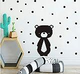 Dessin animé nounours sticker mural bébé fille enfant chambre décoration animal Vinly sticker mural papier peint papier peint affiche décoration de la maison 40x30cm