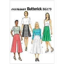 0ac59a0def5e Butterick Patterns 6179 - Cartamodello per gonna e pantagonna