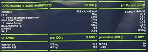 NADURIA SPORT Vegan Protein-Shake Vanille (500 g) mit Erbsen-, Kürbiskern-, Sonnenblumen- und Reisprotein, inkl. Superfoods