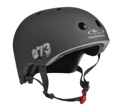HUDORA Kinder Skater-Helm, schwarz, Gr. 55-58 - Skateboard Kinder