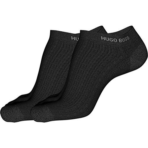 BOSS HUGO 6P Herren Sneaker Socken Farbe 001 schwarz 39-42 einfarbig uni Baumwolle mit Elasthan