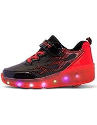 Mr.Ang zapatillas con ruedas zapatos del patín del rodillo de los niños los zapatos del deporte
