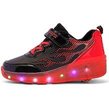 Mr.Ang Zapatillas de Ruedas Sola Ronda Skate Zapatos con Luces Led coloridos para Unisex Niños Niñas