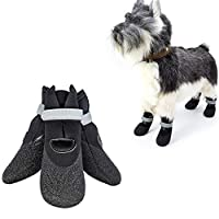 WESEEDOO Dog Boots Protective Waterproof Dog Shoes For Large Dogs Pet Boots Dog Paw Protector Dog Socks Non Slip Dog Rain Boots