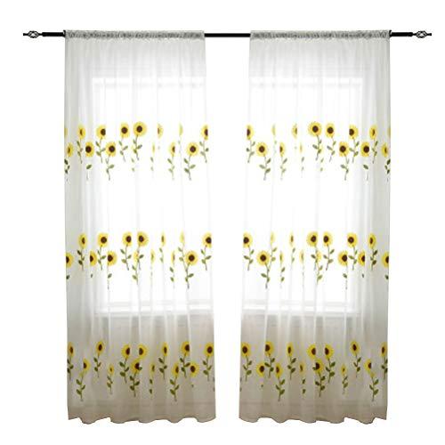 Vosarea Gardine fenster voile vorhang vorhang platten für schlafzimmer wohnzimmer cafe shop 2x2.7m -