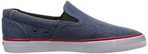 C1RCA Mens Corpus Slip-On Lightweight Insole Skate Shoe Seaport Blue/Red
