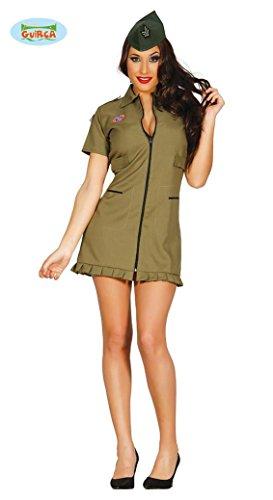 in Soldat Kostüm für Damen Damenkostüm grün Pilotin Gr. M-L, Größe:L (Spielzeug-soldat Halloween-kostüm Für Damen)