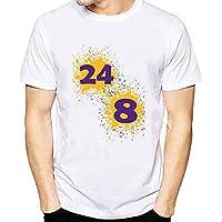 Lakers Aficionados Camiseta Baloncesto Deportes Monumento Camiseta Tops Corto Manga Blusas 5-Styles / A4 / M