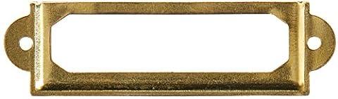 Bureau Bibliothèque fichier tiroir porte étiquette Porte étiquette ton or Lot de 10