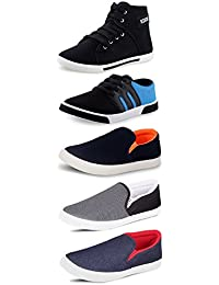 Tempo Men's Combo Pack of 3 Loafers & 2 Sneakers