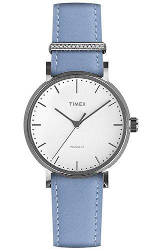 Timex Orologio Analogico Quarzo Donna con Cinturino in Pelle TW2R70300VQ