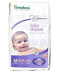 Himalaya Baby Medium Size Diapers (54 Count)