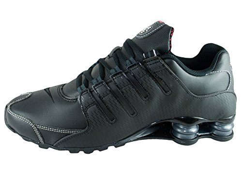 Shox NZ Scarpe da corsa in pelle Black/Varsity Red/White/Anthracite