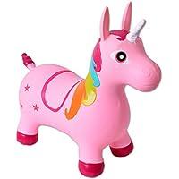 TE-Trend Springpferd Hüpftier Einhorn Unicorn Hüpfpferd bis 50kg belastbar in Lila Oder Rosa preisvergleich bei kleinkindspielzeugpreise.eu