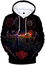 Men's Hoodie Stranger Things Season 3 Sweatshirt Tv Series Stranger Things 3d Print Winter Warm Hoodies