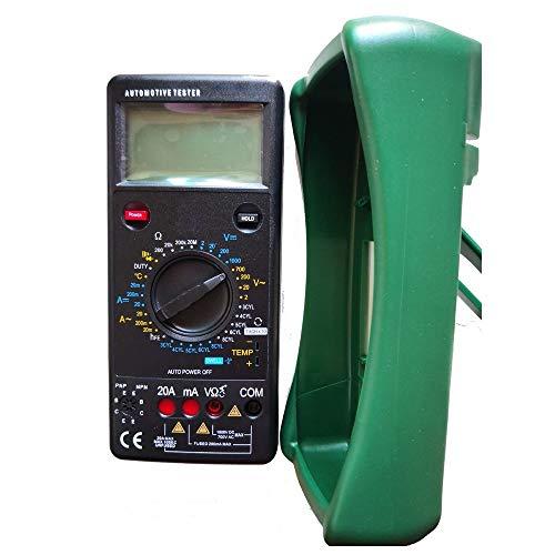 Probador de coches Probador digital de coches multímetro 500-10000 RPM multímetro de permanencia ángulo medidor de temperatura