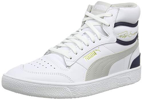 Puma Unisex-Erwachsene Ralph Sampson Mid Hohe Sneaker, Weiß White-Gray Violet-Peacoat 04, 42 EU