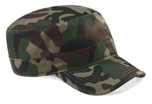 Army Military Cap im Kuba Castro Look in 13 Farben und Camouflage CB33 Camouflage Baseball-kappe
