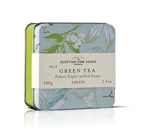 Scottish Soaps Soap In A Tin Vintage Green Tea 100g