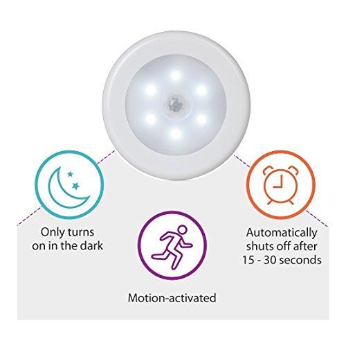Foonii-Set-4-pezzi-Luce-Notturna-Sensore-di-Movimento-con-magnetica-Alimentazione-a-Batteria