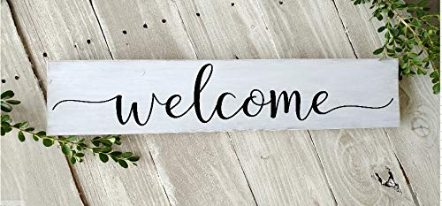 prz0vprz0v Welcome Sign, Wood Welcome Sign, Home Sweet Home Sign, Rustic Wood Welcome Sign, Farmhouse Style Sign, Home Decor, Wood Wall Art