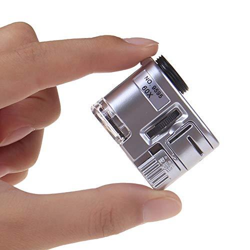 Handy-Clip-Lupe 60 mal Handy-Mikroskop mit LED-Violettlicht-Identifikationslupe