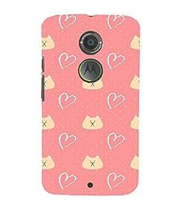 EPICCASE Cat n Love Mobile Back Case Cover For Moto X 2nd Gen (Designer Case)