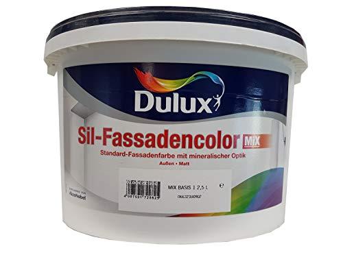 Dulux Sil-Fassadencolor Fassadenfarbe Mix mit mineralischer Optik für Außen matt 2,5 Liter