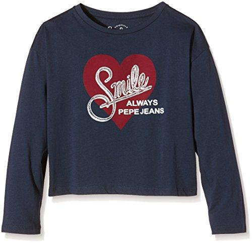 pepe-jeans-claudia-t-shirt-bambina-blu-navy-595-12-anni-taglia-produttore-12