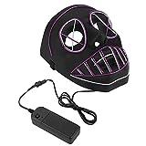 Fdit máscara de Halloween LED, Incandescente Luminoso máscara de luz...