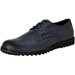 BATA Men's Edward Grey Leather Formal Shoes