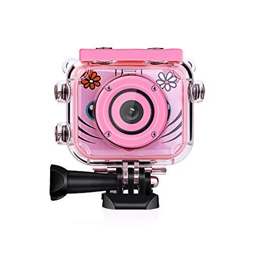 MBEN Kinderkamera, HD-Tauchkamera, 1080P 1,7-Zoll-Farbdisplay, Kinder-Action-Cam, Neujahrsgeburtstag Kindergeschenk (16 GB Speicherkarte),Pink