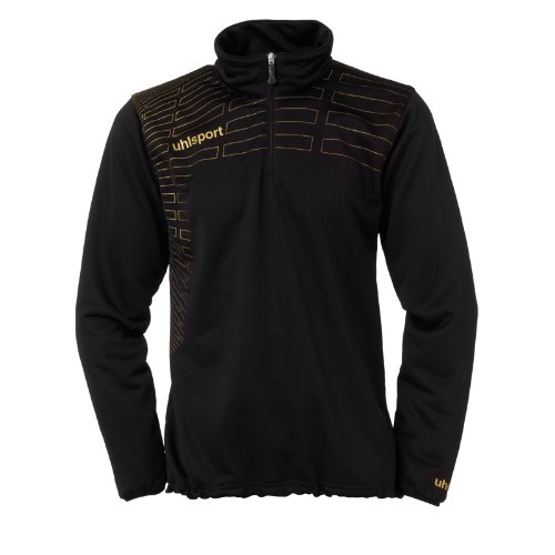 uhlsport Damen Pullover Match 1/4 Zip Top Schwarz/Gold, XXL
