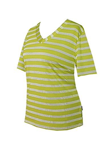 Schneider Sportswear Damen Merle Shirt T-Shirt Pulli Sportshirt weiß/limone