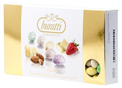 Buratti confetti con mandorle tostate ricoperte di cioccolato, nei colori e nei gusti assortiti, tenerezze spotty - 1000 g