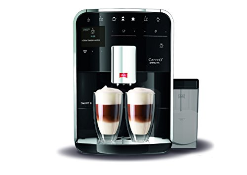 Melitta Barista TS SMART F85/0-102, Bean to Cup Coffee Machine, Bluetooth connectivity, Melitta Connect App, Whisper Grinder (Quiet Mark), Black thumbnail