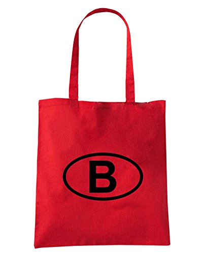 T-Shirtshock - Borsa Shopping WC0033 BELGIUM BELGIO Rosso