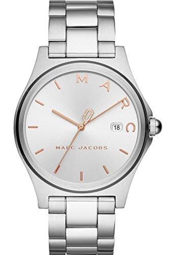 Marc Jacobs Damen-Armbanduhr Analog Quarz One Size, Silberfarben, Silber