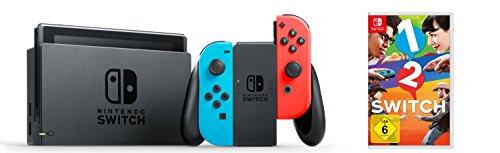 Image of Nintendo Switch Konsole Neon-Rot/Neon-Blau + 1-2-Switch