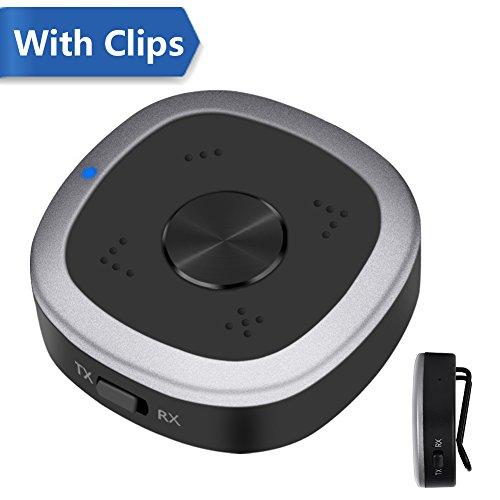 Elekele Bluetooth Adapter, aptX HD, aptX Low Latency und aptX Bluetooth Sender+Empfänger für TV, Autoradio, Mobilgeräte etc.