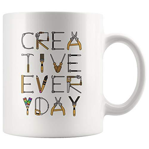 Creative Everyday Taza de café de cerámica, 325 ml, diseño gráfico, regalo de diseñador, diseño gráfico para estudiantes y graduados